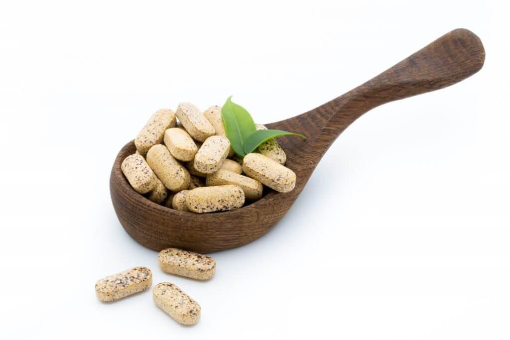 Consultation - Alternative Medicine. Vitamin capsules